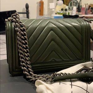 CHANEL Bags - Chanel Boy Bag Olive Green